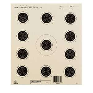 Champion Nra Paper Targets Ga 17 50 Foot 11 Bull Eye 10.5