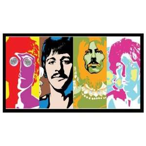 Magnet THE BEATLES (Andy Warhol Psychedelic Art)