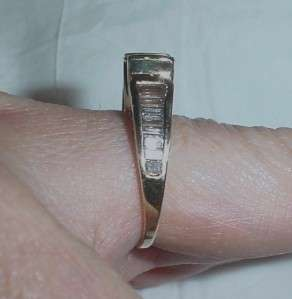 14K EMERALD CUT BAGUETTE DIAMOND RING   SZ 5.5   LB1023