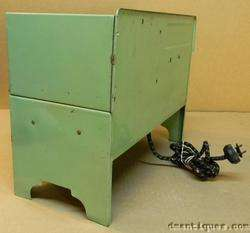 Antique c1930 EMPIRE USA Decorative Metal Toy Stove Electric Green
