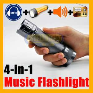 Portable  Player Speaker + Bike LED Flashlight + FM