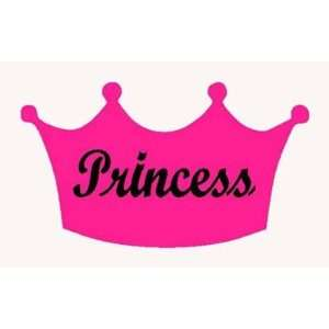 PRINCESS CROWN 2 color Vinyl Sticker/.Decal (Girls,Ladies,Women)