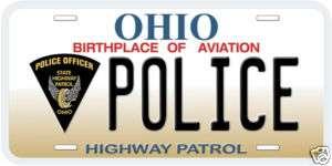 Ohio Highway Patrol Police Novelty Metal License Plate
