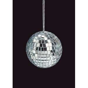 Club Pack of 36 Mirrored Glass Disco Ball Christmas Ornaments 2.75