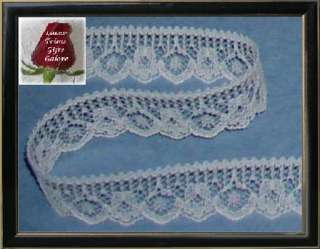 20 Yd Ivory 3/4 Scalloped Floral Lace Trim Style O35V