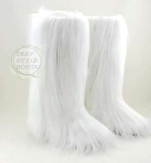 NEW ESKIMO LONG FAUX FUR FURRY YETI BOOTS WINTER SNOW 3 COLOR |