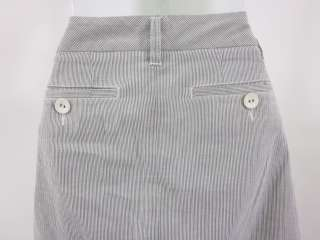 MARC BY MARC JACOBS Blue Striped Pleated Skirt Sz 4