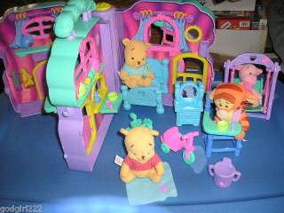 2003 Mattel Pooh & Friends Playhouse with Extras
