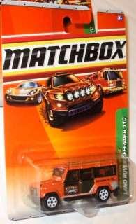 MATCHBOX 2010 #100 100 ORANGE LAND ROVER DEFENDER 110 J