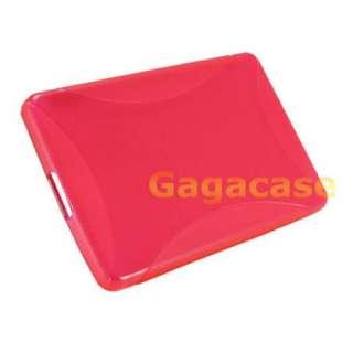 Fire TPU Gel Case Skin Cover + Screen Protector + Stylus Pen ,Pink