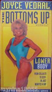 Joyce Vedral The Bottms Up Workout Lower Body VHS