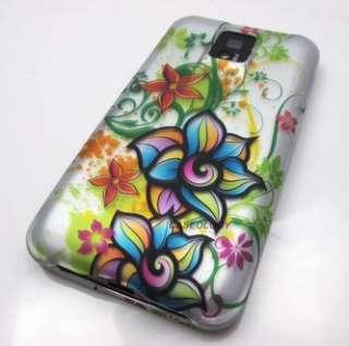 FUNKY POPPY EXOTIC FLOWERS HARD SHELL CASE COVER LG T MOBILE G2X PHONE