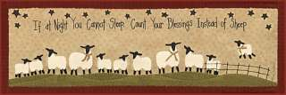 Count Your Blessing Not Your Sheep Framed Picture Print