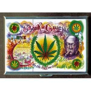 GANJA MARIJUANA FUN ID Holder, Cigarette Case or Wallet MADE IN USA