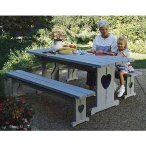 Picnic Table & Benches Woodworking Plan