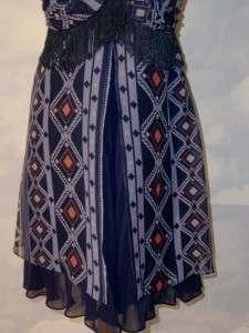 GORGEOUS LAYERED A LINE CHIFFON DRESS NWT 10 MEDIUM M