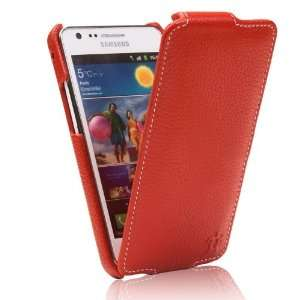 Ultra Slim Collection Leather Flip case Grained Red Electronics