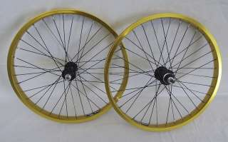 New XLC BMX Wheels Gold 20 X 1.75 Old School BMX Complete Set Up