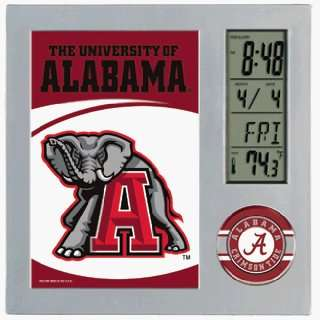 Alabama Crimson Tide Desk Clock with Picture Frame