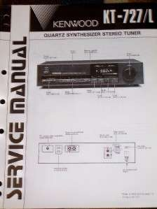 Kenwood KT 727/727L Stereo Tuner Service Manual