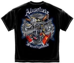 Absolute Firefighter Gas Mask Black T Shirt