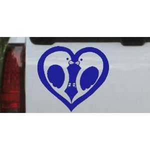 Lovebirds Kissing In Heart Animals Car Window Wall Laptop