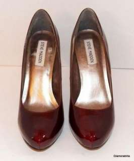 HOT STEVE MADDEN Metallic Wine Patent Leather EVVA Pumps~8 M