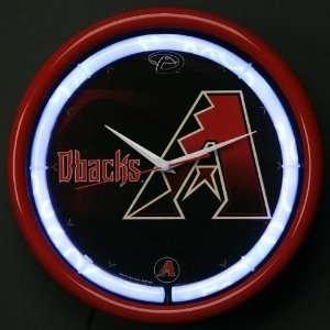 MLB Arizona Diamondbacks Plasma Wall Clock Sports