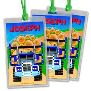 Set of 3 Kids Personalized Backpack & Lunch Bag ID Tags