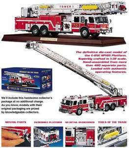 Franklin Mint American Fire Engine (132) Emergency One HP105 w/COA