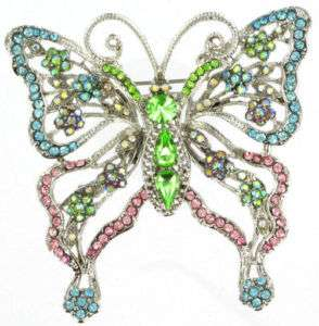 PARIS HILTON BUTTERFLY SWAROVSKI CRYSTAL BROOCH/PIN
