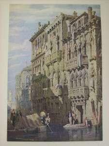 Vtg Samuel Prout Palazzo Contarini Fasan Print Masters of Water Colour