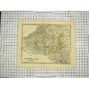 ANTIQUE MAP c1790 c1900 NETHERLANDS FLANDERS AUSTRIA Home