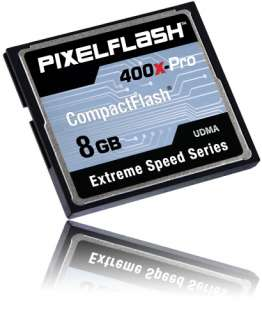 8GB PIXELFLASH Compact Flash CF Memory Card 400x Extreme lexar High
