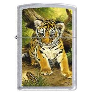 Zippo Custom Ligher   Linda Pickens Cub and Toad Painting