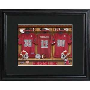Crimson Tide College Football Locker Room Print