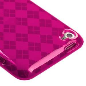 Hot Pink Argyle Candy Skin Cover For APPLE iPod touch(4th