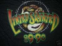 Vintage Concert T Shirt LYNYRD SKYNYRD 89 NEVER WORN