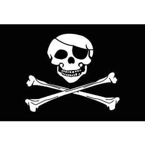 Pirate Parade Motorcycle Flag   10 x 15 Patio, Lawn