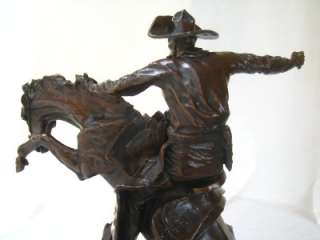Frederic Remington Bronze Sculpture Fredrick BRONCO BUSTER Western Art