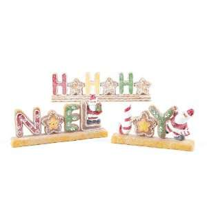 Candy Crush Gingerbread Word Christmas Tabletop Decor: Home & Kitchen