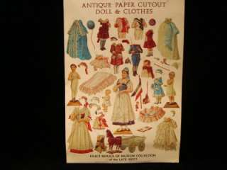 VINTAGE PAPER DOLL OF FRENCH BISQUE MUSEUM DOLLS & CLOTHES COSTUME
