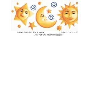 Wallpaper Creative Kids Sun & Moon ( 12 ) stickers IS1048