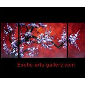 Chinese Feng Shui Painting Cherry Blossom Painting Flower
