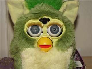 Tiger Electronics 1999 Green Furby MoHawk Works & Dances Great with
