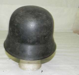 GERMAN WWII M34 FIRE POLICE STEEL HELMET