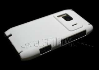 New White Rubberized Hard case cover Skin for Nokia N8