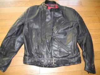 HONDALINE Hein Gericke CAFE RACER Black Leather MOTORCYCLE Jacket size
