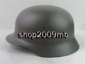 WWII German Army M40 Steel HelmetField GrayWater Decal Free