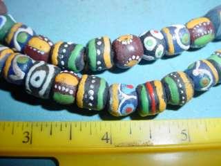 Ghana Glass African 25 Strand 70 Beads Colorful
